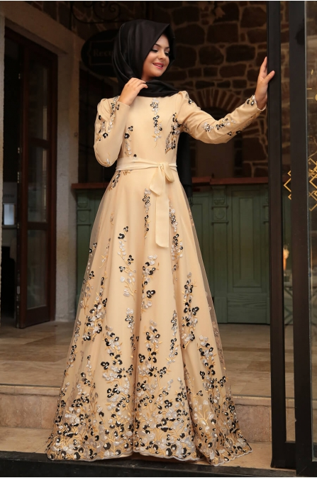 Pınar Şems - Yaşam Elbise - Krem