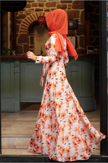 Yaz Elbise - Krem - Pınar Şems