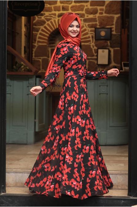 Yaz Elbise - Siyah - Pınar Şems