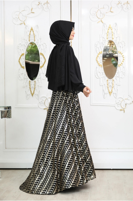 Piramit Etek - Siyah - Pınar Şems