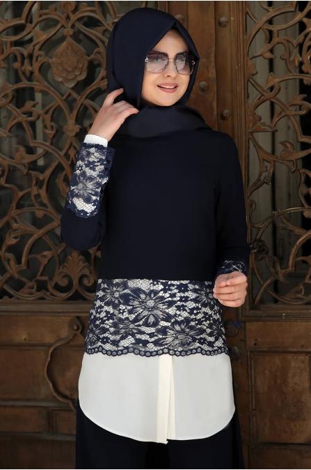 Ceylan Takım - Lacivert - Pınar Şems