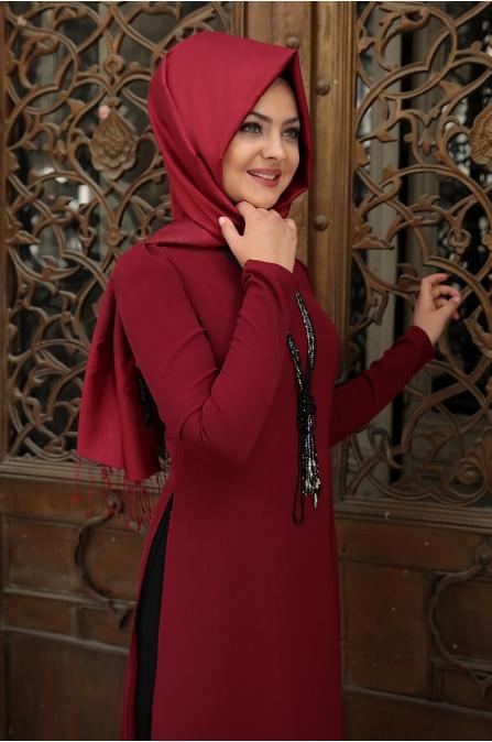 Pınar Tunik - Bordo - Pınar Şems