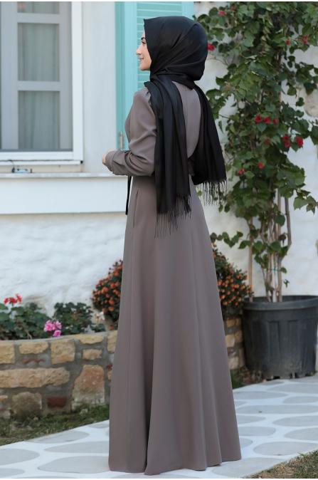 Zeynep Elbise  - Kahve - Rabeysa
