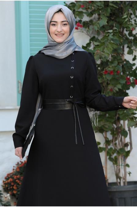 Zeynep Elbise  - Siyah - Rabeysa