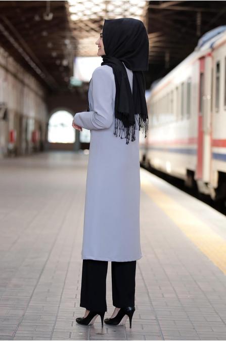 Asil Ceket Pantolon Takım - Gri -Rabeysa