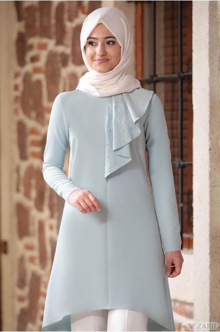 İncili Tunik Pantolon Takım Mint - Rabeysa