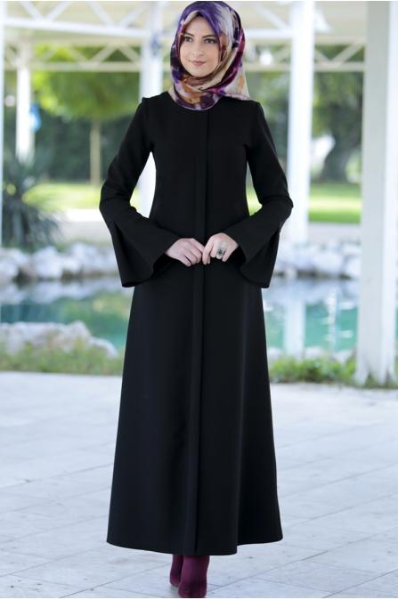 Rabia Şamlı Erva Patlı Elbise Siyah