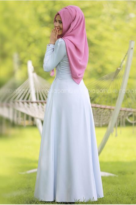 Rose Elbise Mavi - Rabia Şamlı