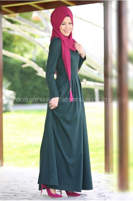 Rose Elbise Zümrüt - Rabia Şamlı