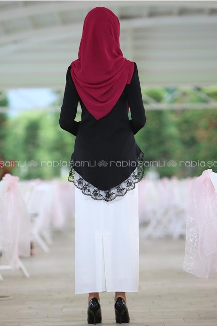 Elegant Takım Siyah Beyaz