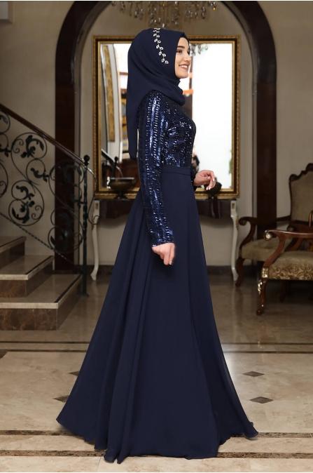 Elif Abiye - Lacivert - Rana Zen