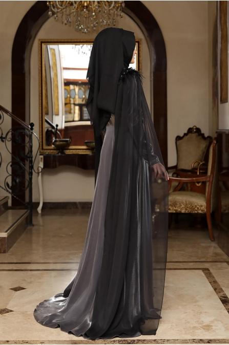 Rosalinda Abiye - Gri - Rana Zen
