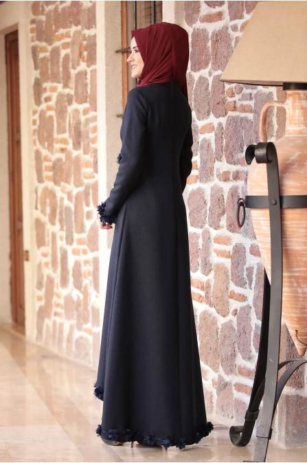 Arye Elbise - Lacivert - Rana Zen