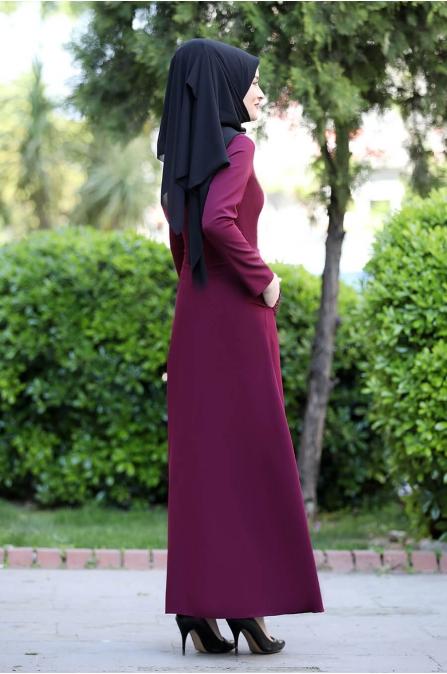 Başak Elbise - Fuşya - Rana Zen