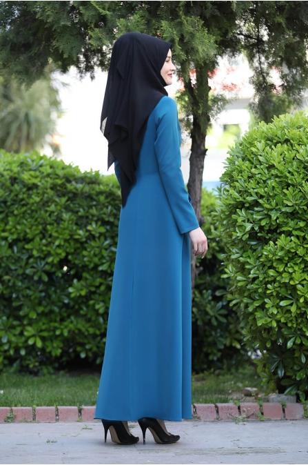 Başak Elbise - Petrol - Rana Zen