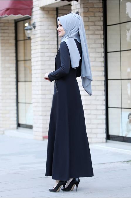 Başak Elbise - Siyah - Rana Zen