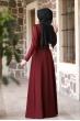 Begüm Tesettür Elbise - Bordo