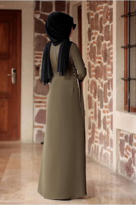 Beste Elbise - Haki - Rana Zen