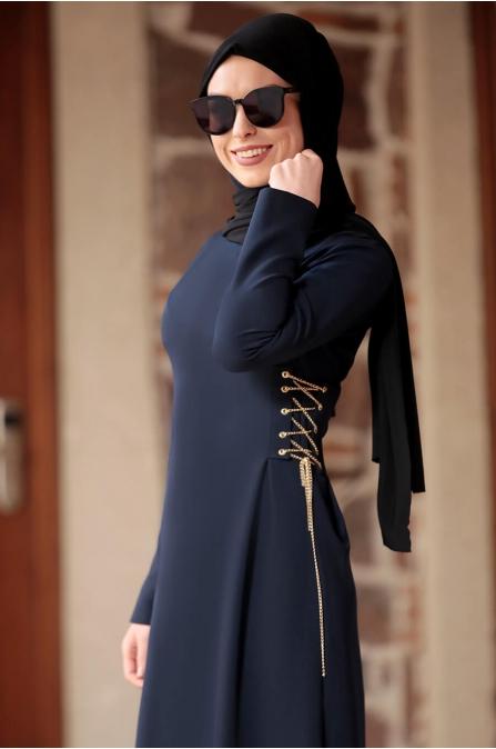 Beste Elbise - Lacivert - Rana Zen