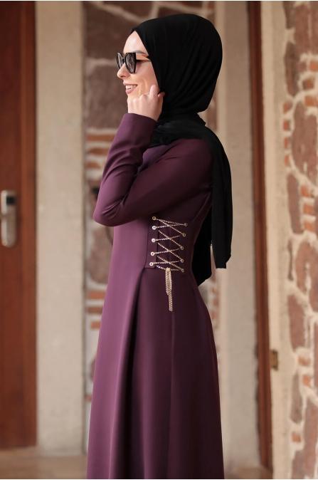 Beste Elbise - Mürdüm - Rana Zen
