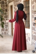 Ceren Tesettür Elbise - Bordo