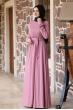 Ceren Tesettür Elbise - Pudra