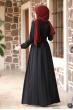 Ceren Tesettür Elbise - Siyah