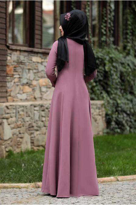 Günçiçek Elbise - Gül Kurusu - Rana Zen