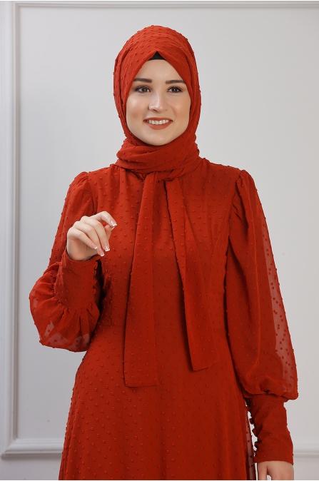 Işıl Elbise - Kiremit - Rana Zen