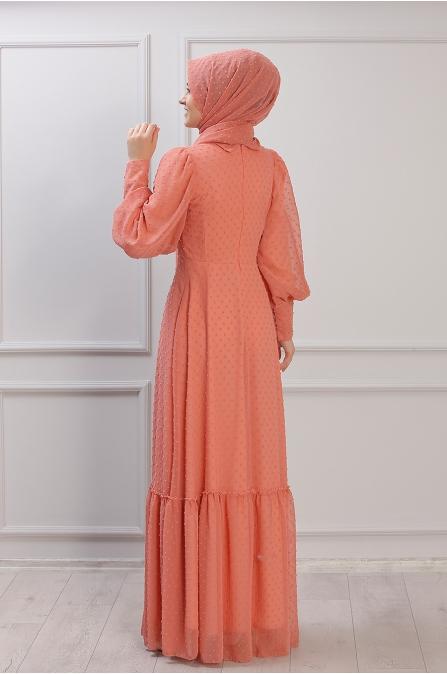 Işıl Elbise - Portakal - Rana Zen