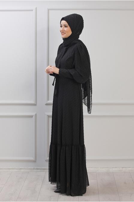 Işıl Elbise - Siyah - Rana Zen
