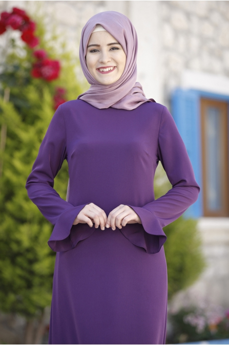 Rana Zen - Kalem Elbise - Mor