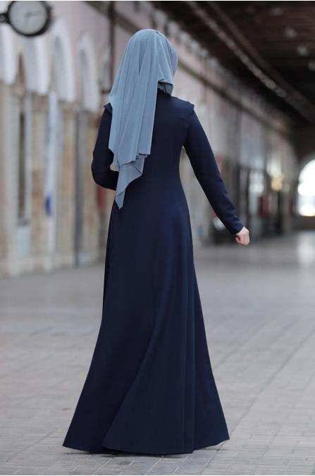 Kumsal Elbise - Lacivert - Rana Zen