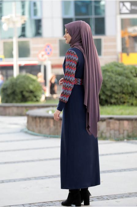 Minel Elbise - Lacivert - Rana Zen