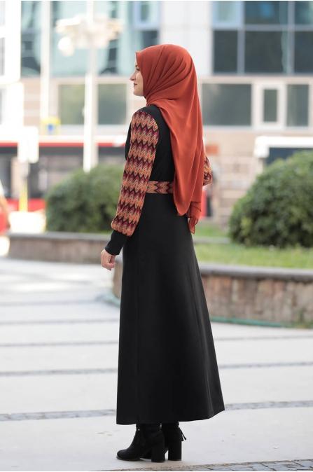 Minel Elbise - Siyah - Rana Zen