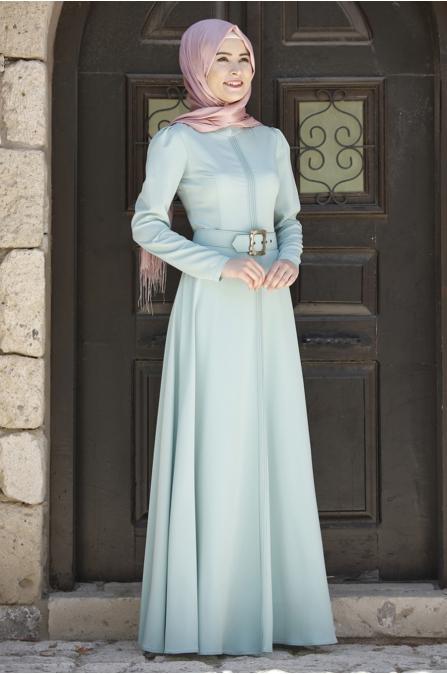 Rana Zen - Nervulu Elbise - Mint