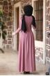 Öykü Tesettür Elbise - Pudra
