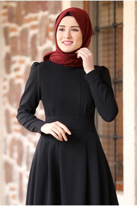 Öykü Tesettür Elbise - Siyah