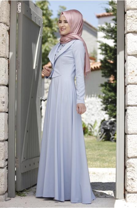 Rana Zen - Endam Elbise - Bebe Mavisi