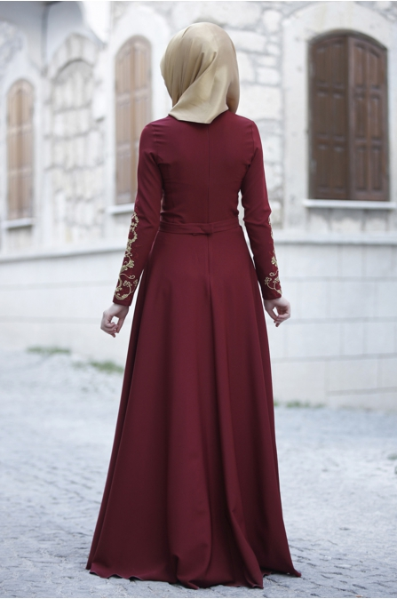 Rana Zen - Sahra Elbise - Bordo