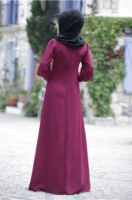 Rana Zen - Tuba Elbise - Mürdüm