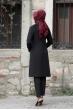 Sude Ceket Pantolon Takım - Bordo - Rana Zen