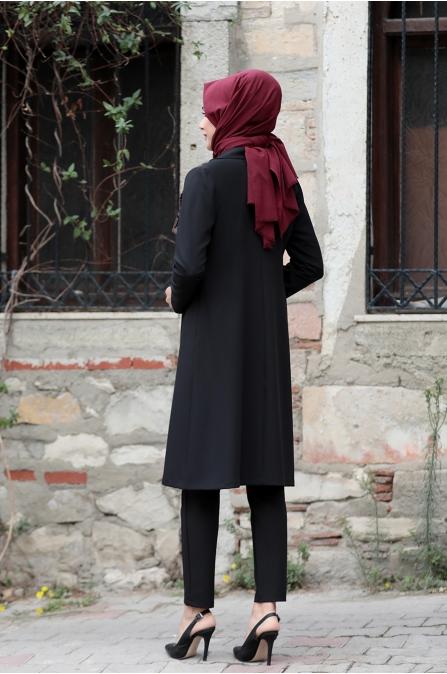 Sude Ceket Pantolon Takım - Kahve Rengi - Rana Zen
