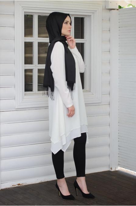 Gülşah Tunik - Beyaz - Salkım Saçak