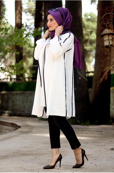 İdil Ceket - Ekru - Seda Tiryaki