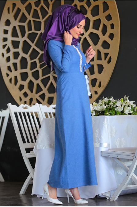 İnci Kalem Elbise - Seda Tiryaki