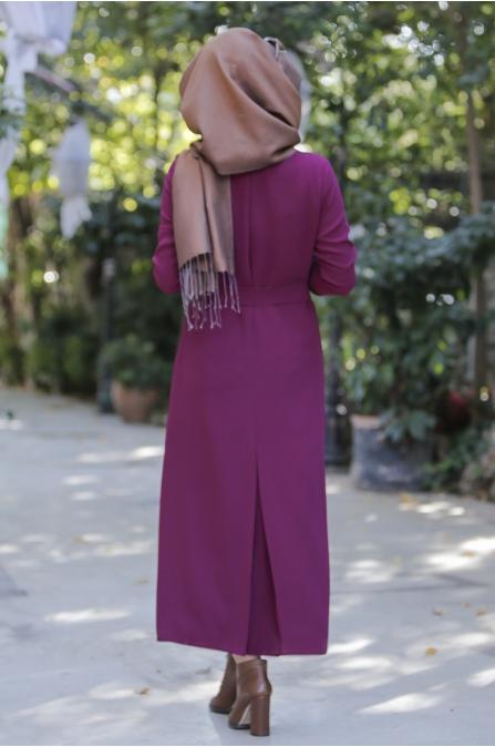 Kışlık Fuşya Elbise- Seda Tiryaki