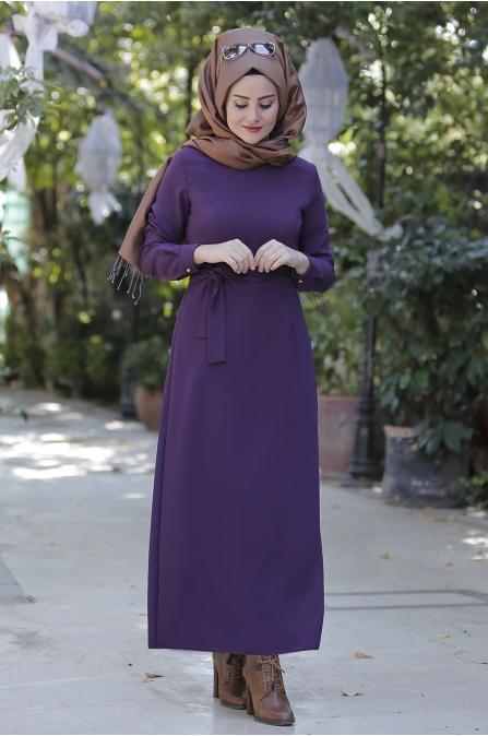Kışlık Mor Elbise- Seda Tiryaki