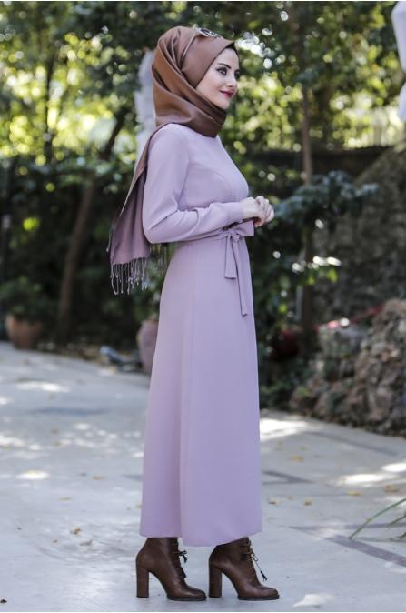 Kışlık Pudra Elbise- Seda Tiryaki