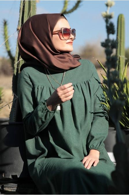 Mila Elbise - Yeşil - Seda Tiryaki